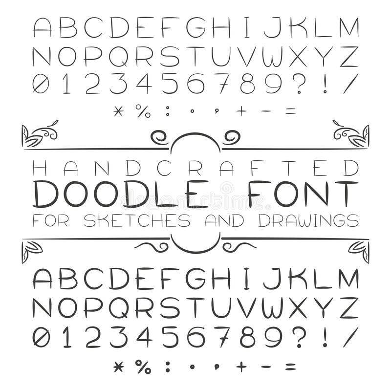 Download 向量字体或字母表在乱画样式与数字和标点符号 向量例证. 插画 包括有 街道画, 字体, 收集, 大刀, 动画片 - 62535424