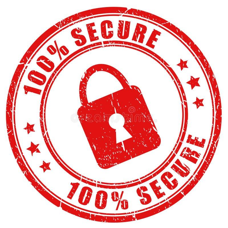 向量安全印花税 库存例证