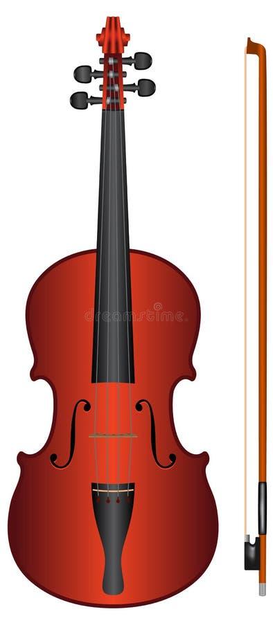 向量小提琴 皇族释放例证