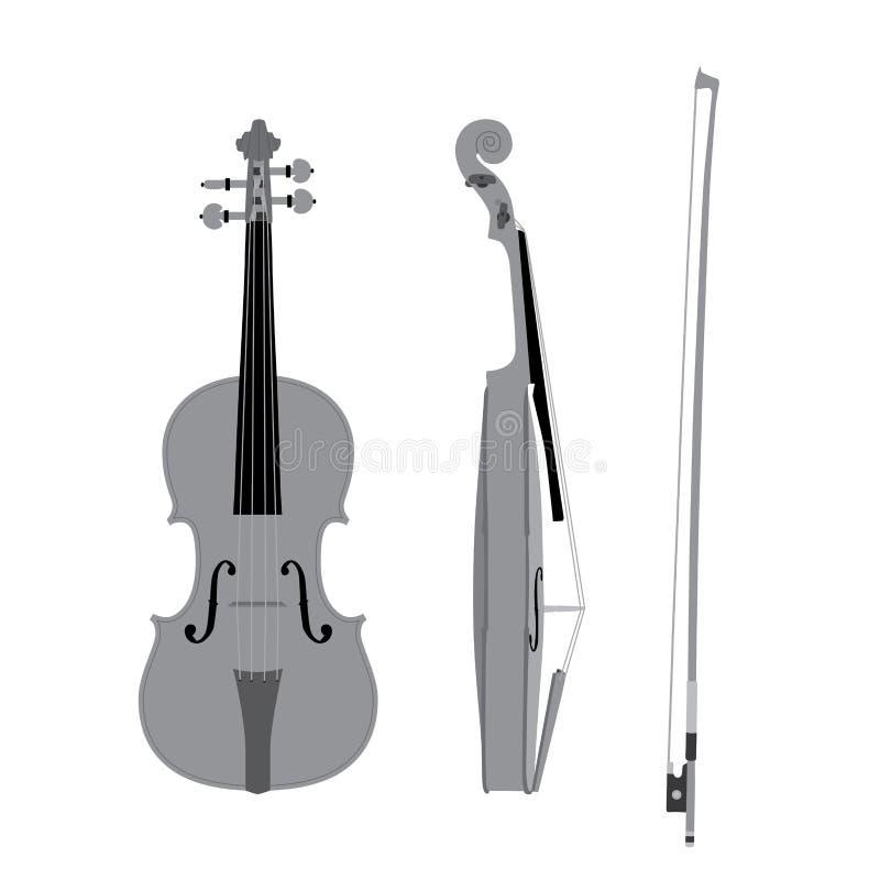 向量小提琴 库存例证