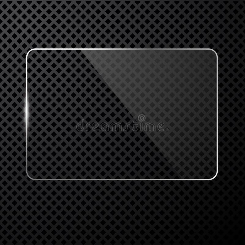 向量抽象黑色技术背景 库存例证