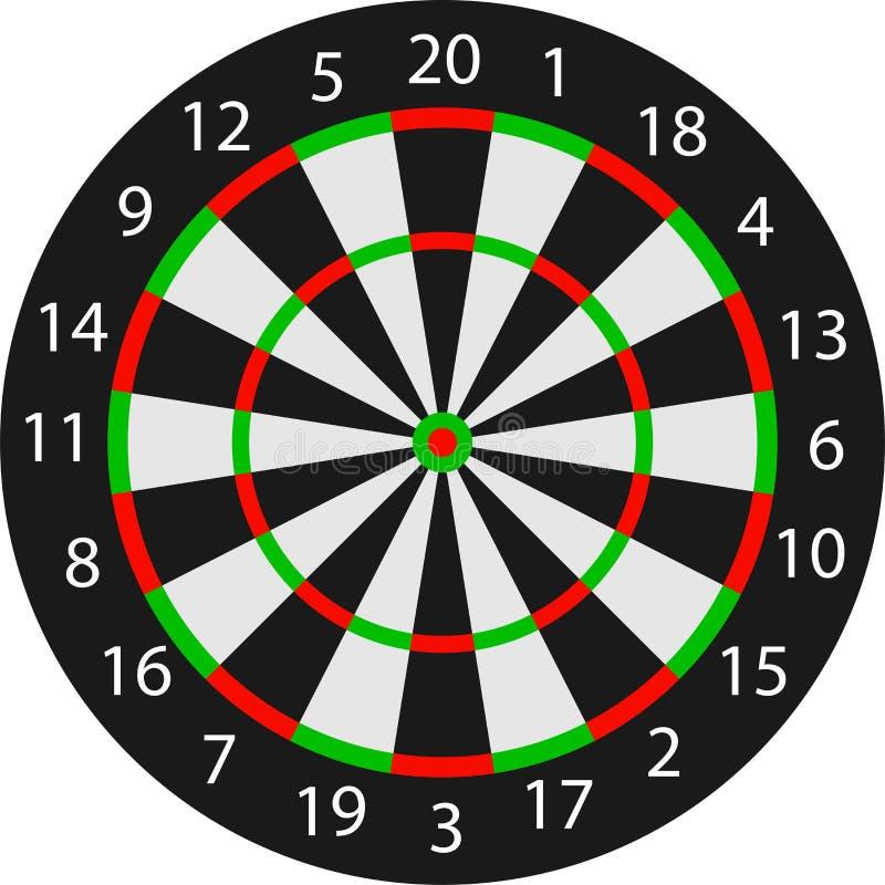 向量掷镖的圆靶 库存例证