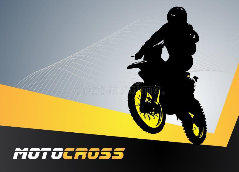 向量摩托车越野赛 向量例证