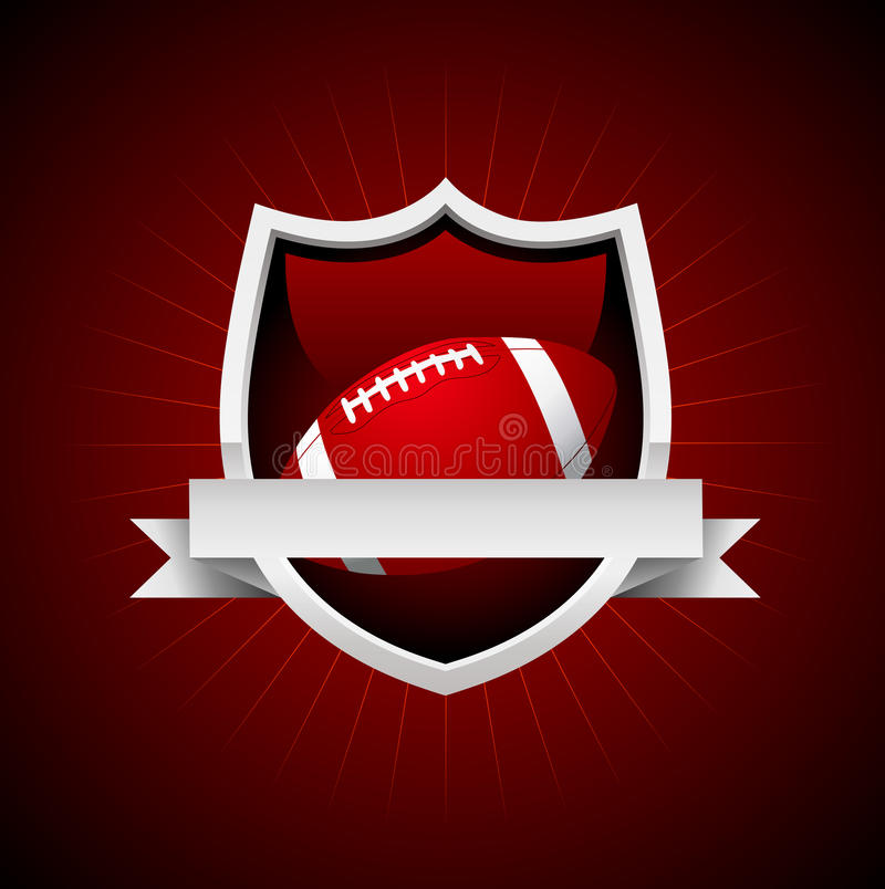 向量橄榄球象征 向量例证