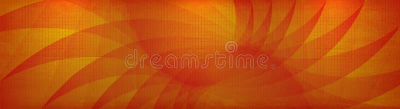 向量橙黄色grunge横幅 皇族释放例证