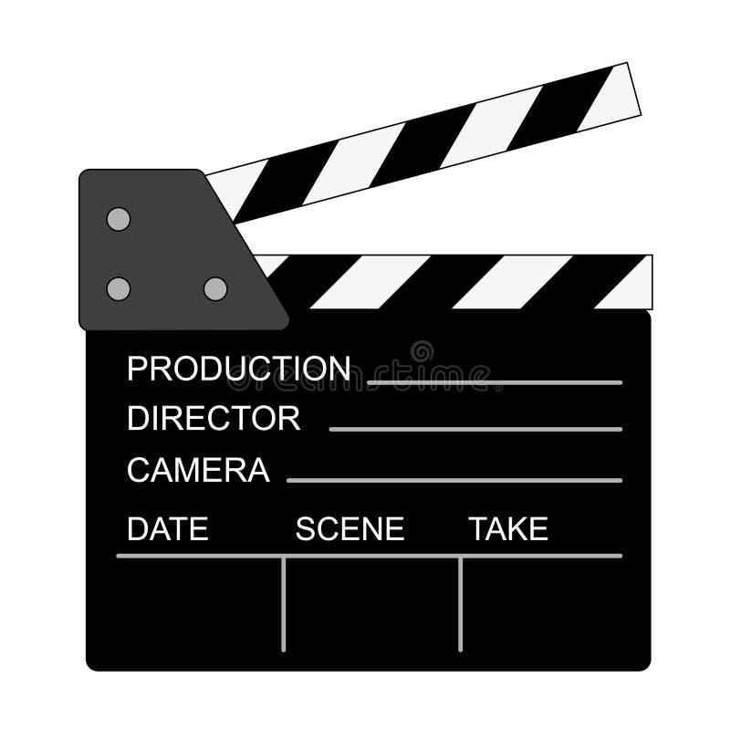 向量电影拍板 库存例证