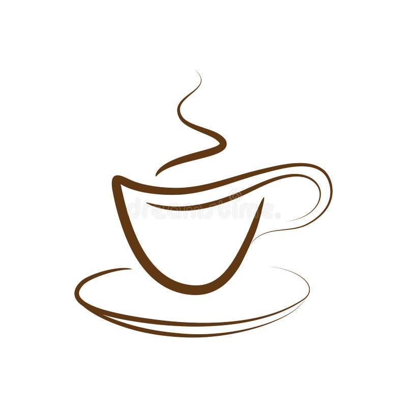向量的咖啡杯 库存例证