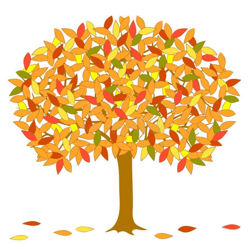 向量秋季结构树。 皇族释放例证