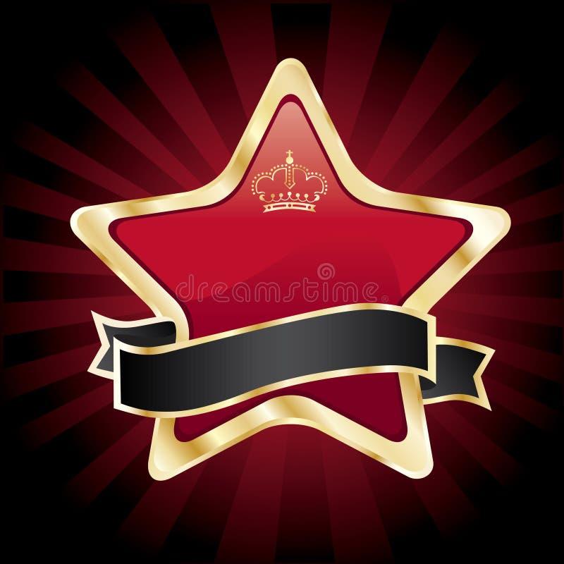 向量红色星形 向量例证