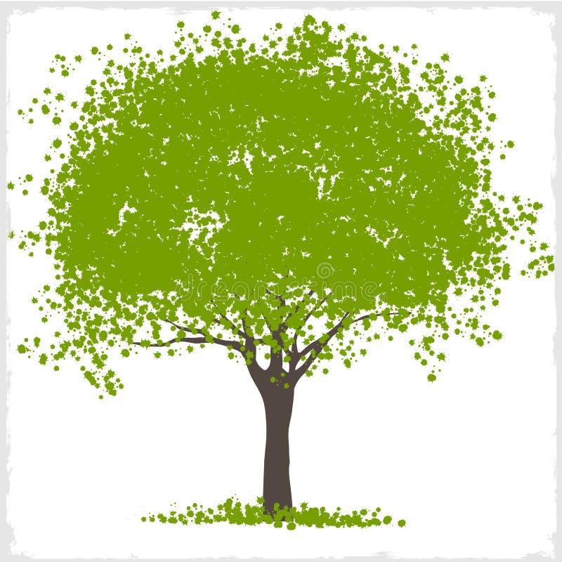 向量绿色污点结构树 向量例证