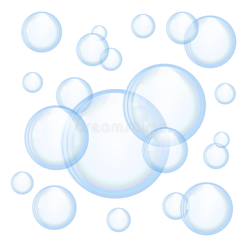 向量肥皂泡 库存例证