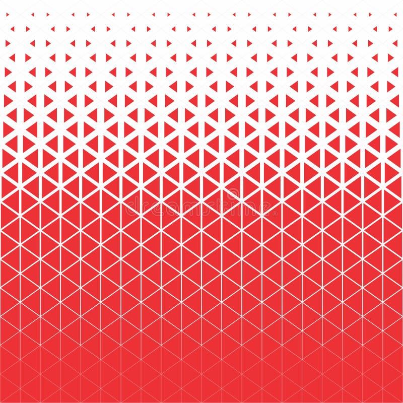 向量背景 抽象红色和白色多角形三角样式 库存例证