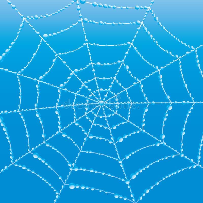 向量背景 蜘蛛网 皇族释放例证