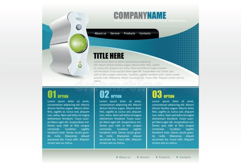 向量计算机公司的网站模板 向量例证