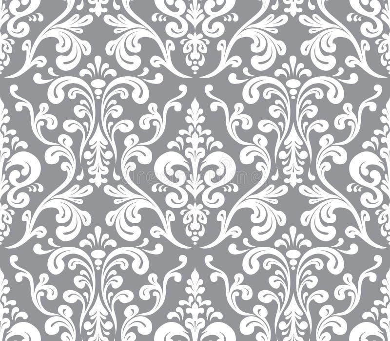 向量 无缝的典雅的锦缎样式 皇族释放例证