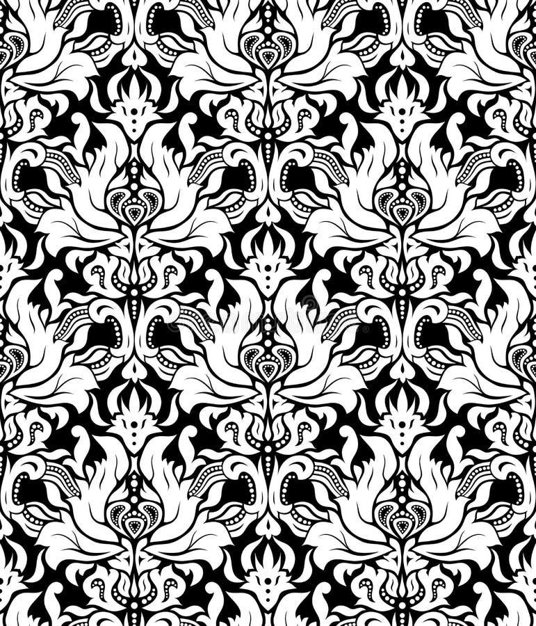 向量 无缝的典雅的锦缎样式 向量例证