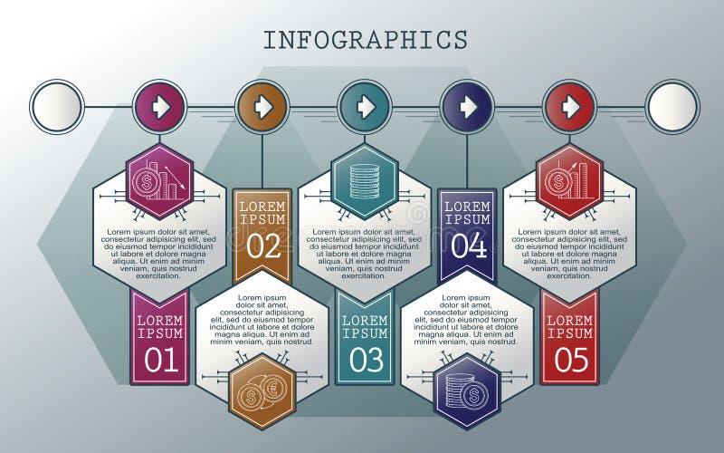 向量infographics集 分级显示 模板的汇集周期图、图表、介绍和圆的图的 向量例证