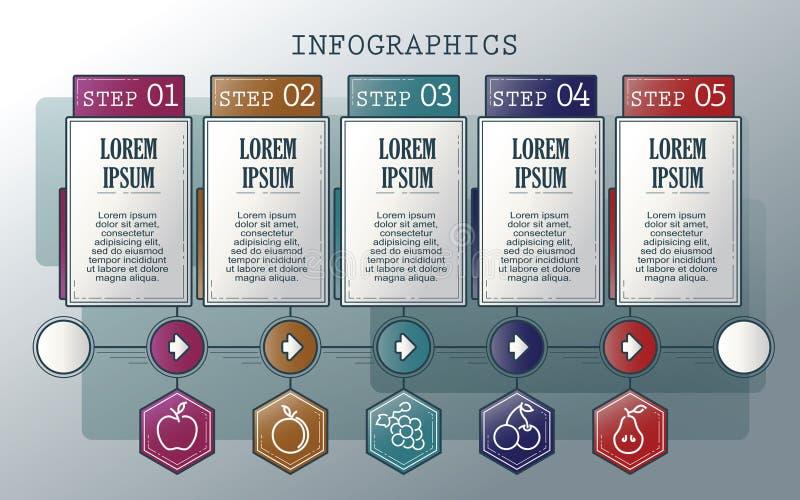 向量infographics集 分级显示 模板的汇集周期图、图表、介绍和圆的图的 皇族释放例证