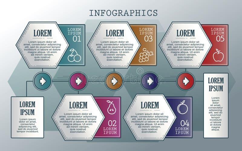 向量infographics集 分级显示 模板的汇集周期图、图表、介绍和圆的图的 库存例证