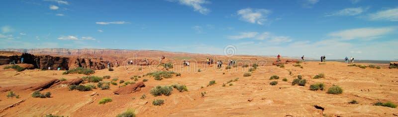 向马掌弯亚利桑那的道路 库存照片