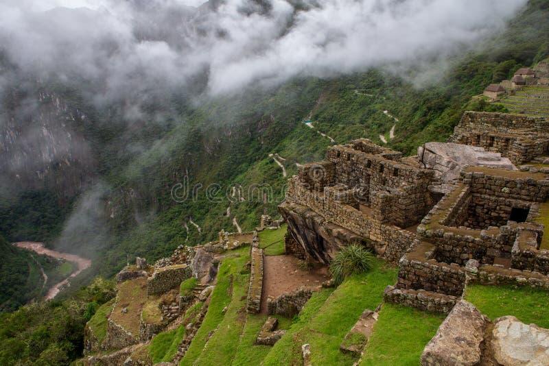 向Macchu Picchu的路如被看见从行军的城堡第15 2019年 免版税库存照片