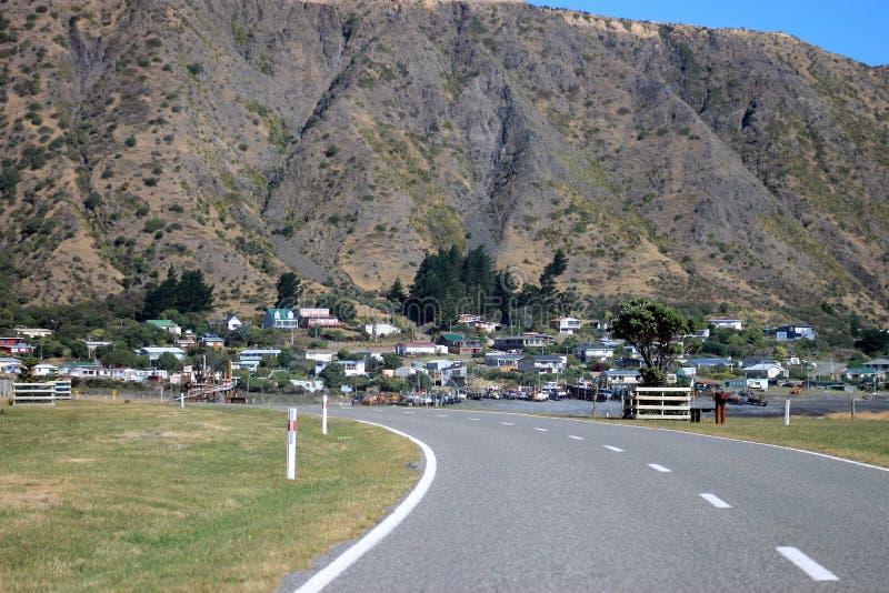 向Ngawi,新西兰的路 图库摄影