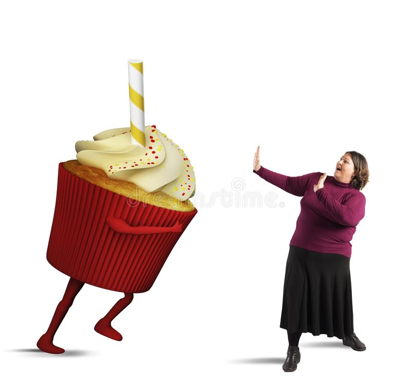 吓唬由巨型杯形蛋糕 免版税库存照片