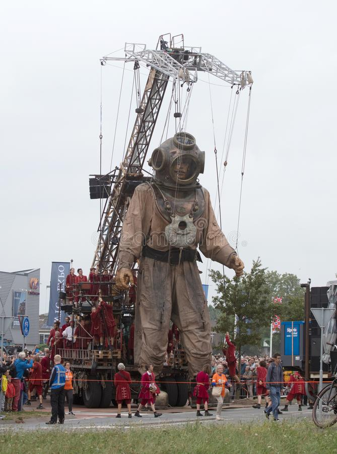 吕伐登,荷兰,威严19日2018年-罗伊巨人  免版税图库摄影