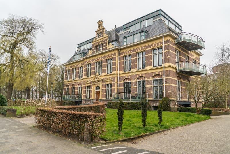 吕伐登,荷兰, 2018年4月14日,老Diaconessenhuis 免版税库存照片