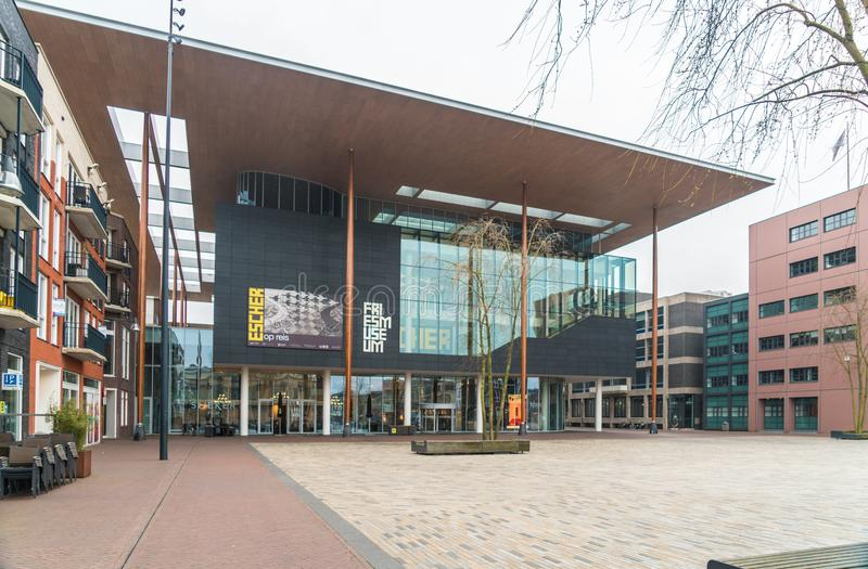 吕伐登,荷兰, 2018年4月14日, Wilhelminaplein 免版税图库摄影