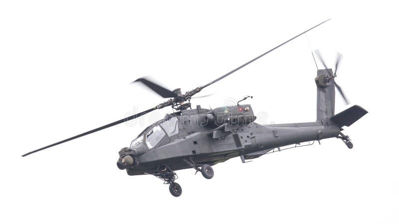 吕伐登,荷兰- 2016年6月11日:波音AH-64亚帕基 库存照片