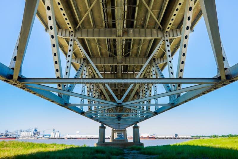 巴吞鲁日桥梁 免版税库存图片