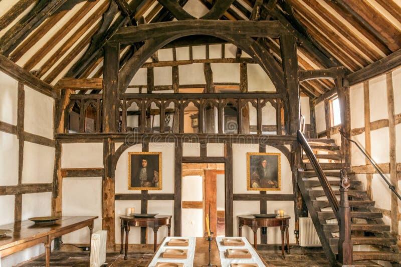 吟游`画廊, Brockhampton庄园, Herefordshire,英国 免版税库存图片