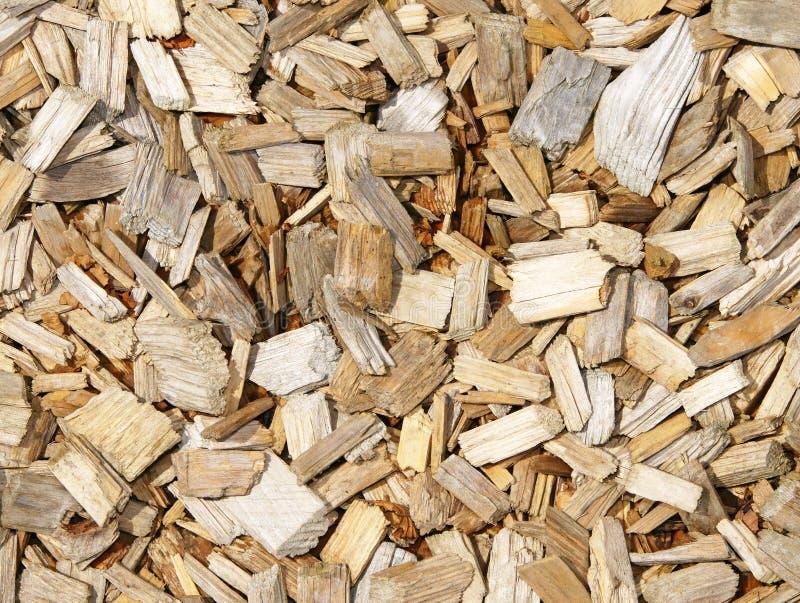 吠声筹码木头 免版税库存照片