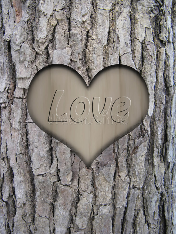 吠声重点爱树干 向量例证
