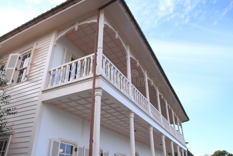 否 2船坞房子在手套贩卖商庭院,长崎里 库存图片