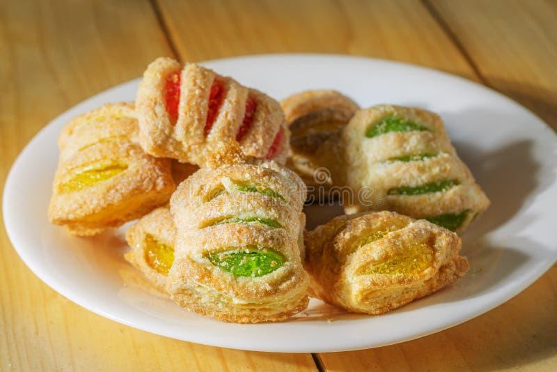 含果酱的松饼饼 免版税库存图片
