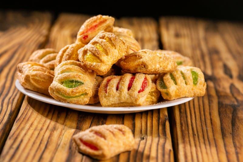 含果酱的松饼饼 库存照片