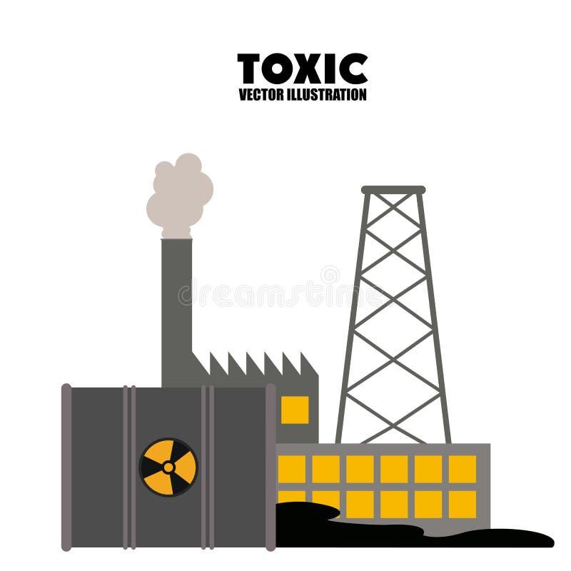 含毒物和污染设计 皇族释放例证