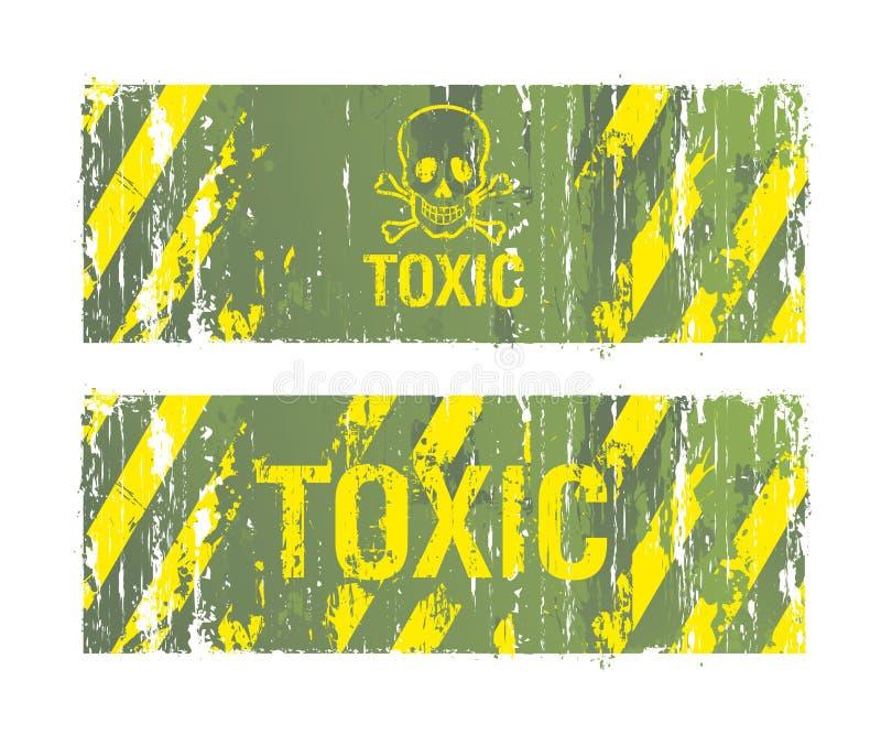 含毒物的背景 库存例证