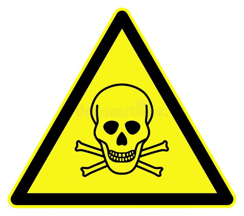 含毒物符号 向量例证