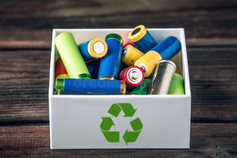 含毒物适当的处置对土壤环境和电池的 回收生态的有害的物质 库存图片