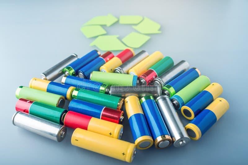 含毒物适当的处置对土壤环境和电池的 回收生态的有害的物质 免版税库存照片