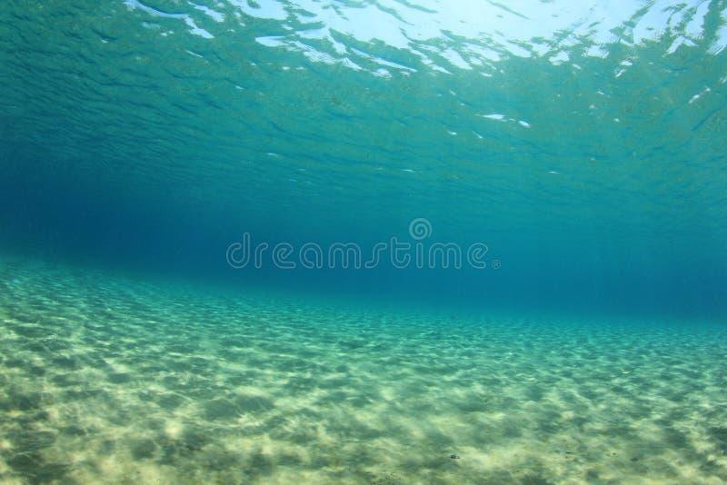 水下的背景 库存照片