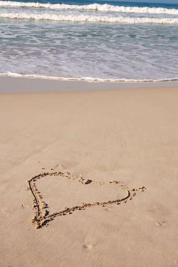 含沙海滩的重点 库存图片