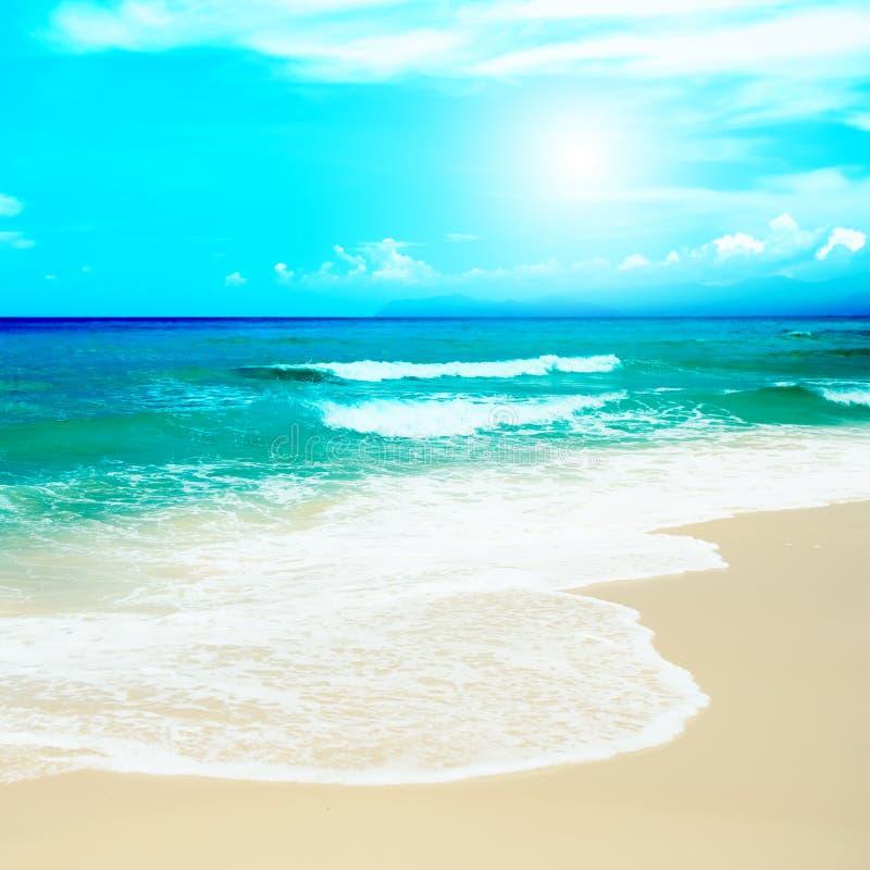 含沙的海滩 图库摄影