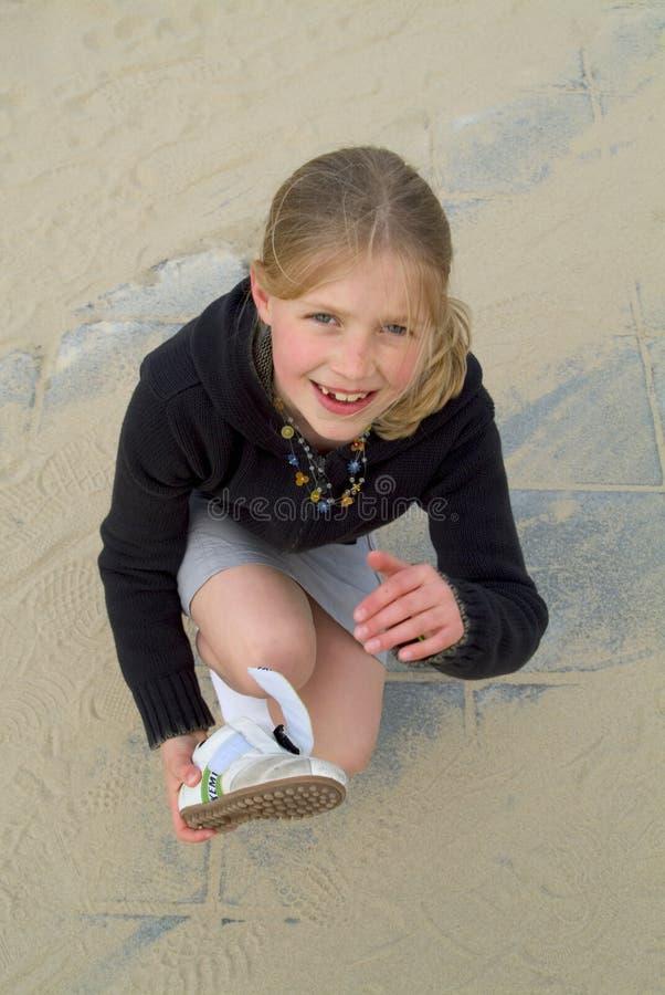 含沙鞋子 免版税库存图片