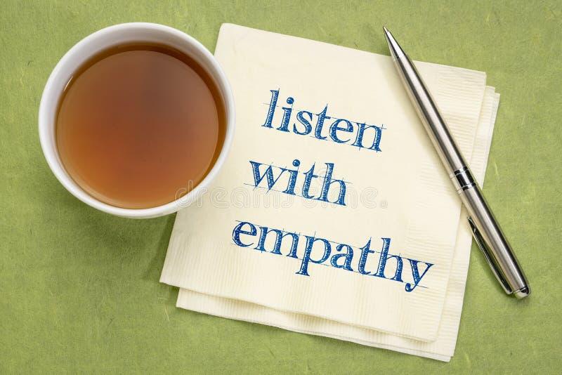 听与同情 库存图片