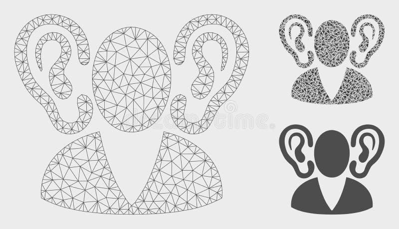 听众传染媒介滤网第2个模型和三角马赛克象 皇族释放例证
