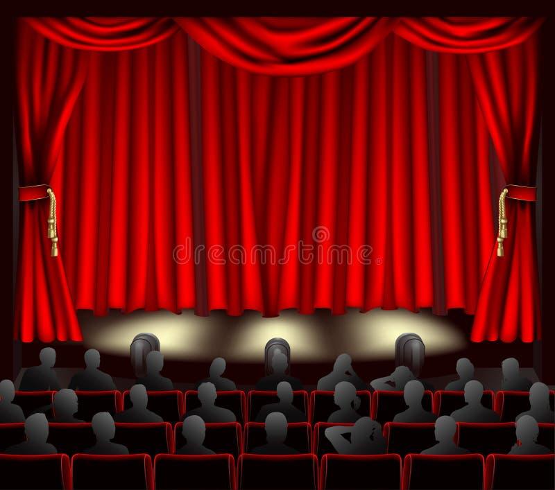 听众剧院 皇族释放例证